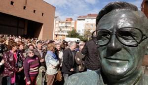 Inaugurado el busto del párroco José María Bardales