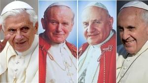 Los cuatro Papas