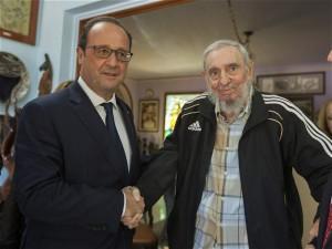 Hollande y Fidel